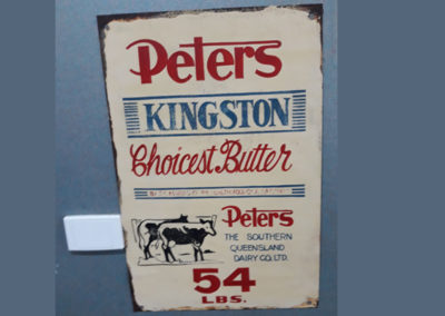 Kingston Butter sign from when the factory was still operating