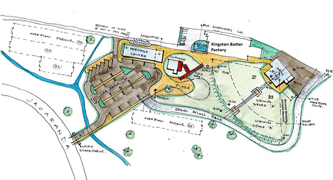 Draft Kingston Butter Factory Site Plan as at March 2019